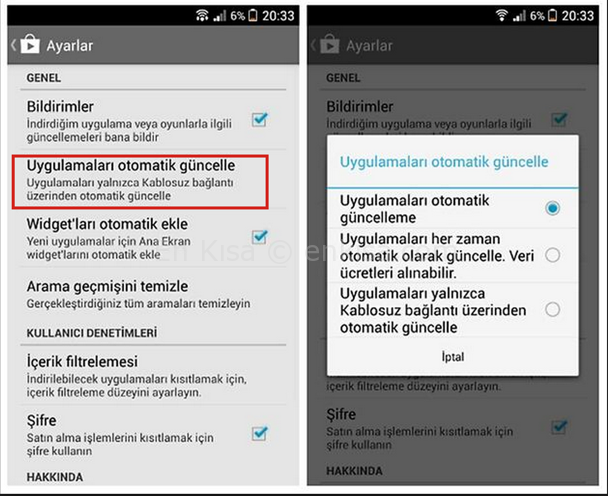 android-uygulama-guncelleme